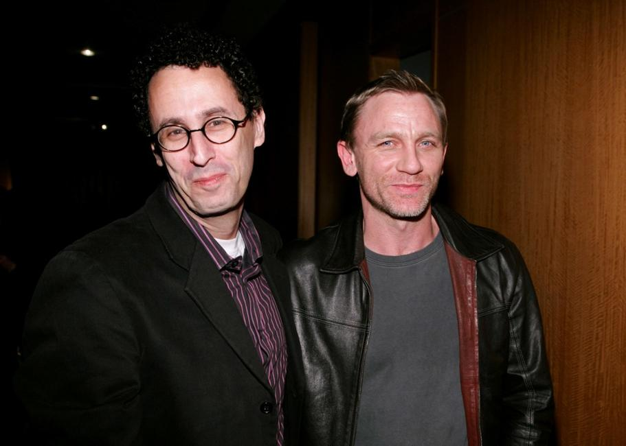 Tony Kushner and Daniel Craig at the private screening of