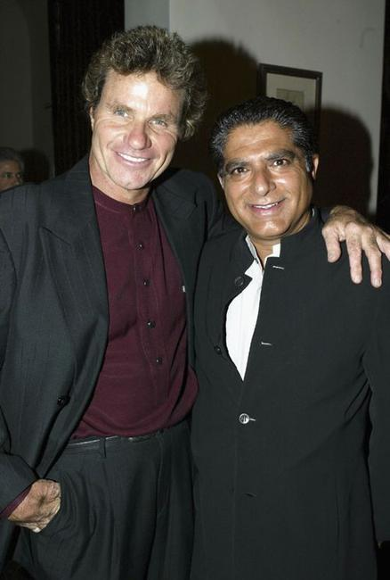 Martin Kove and Deepak Chopra at the 10x10:100 ways to help our children charity Fundraiser.