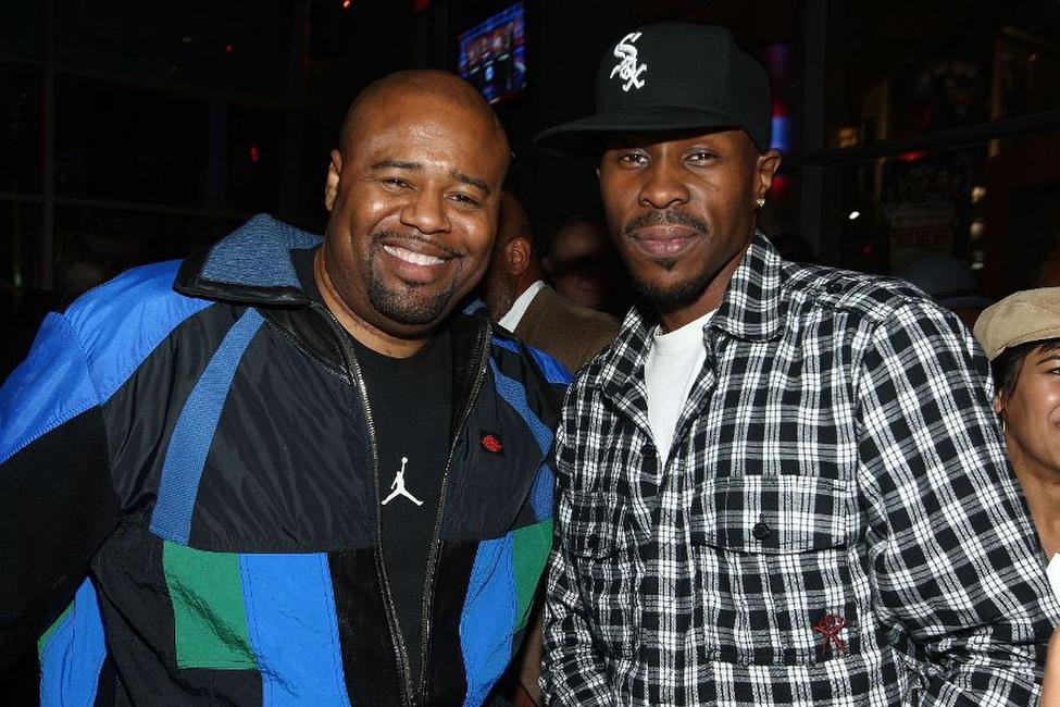 Chi McBride and Wood Harris at the after party of the screening of