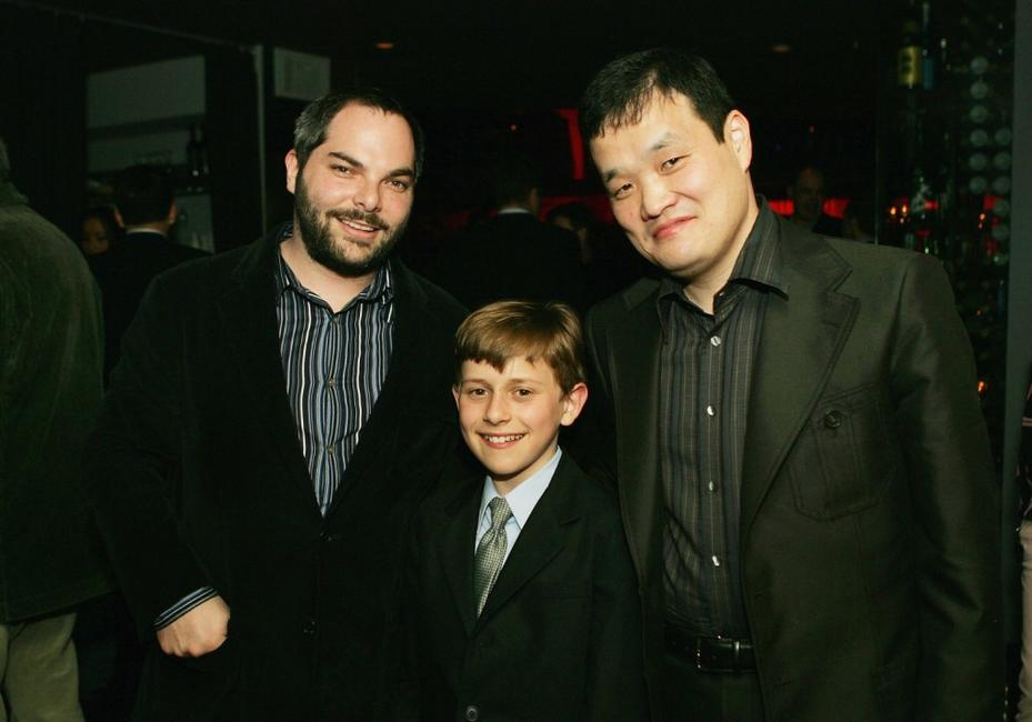 Adam Goodman, David Dorfman and Director Hideo Nakata at the after party of the premiere of