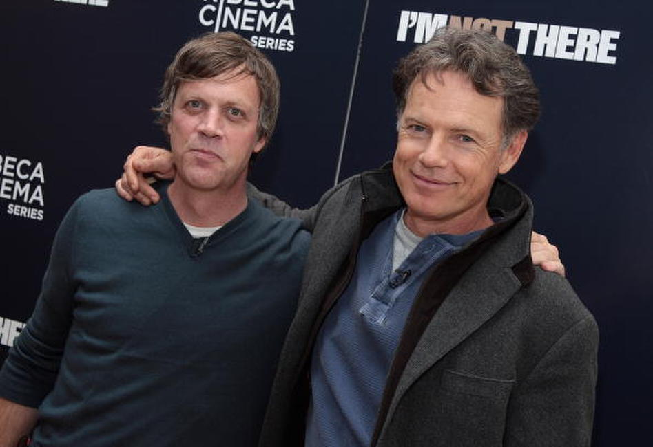 Bruce Greenwood and Todd Haynes at the special cocktail reception and panel discussion of