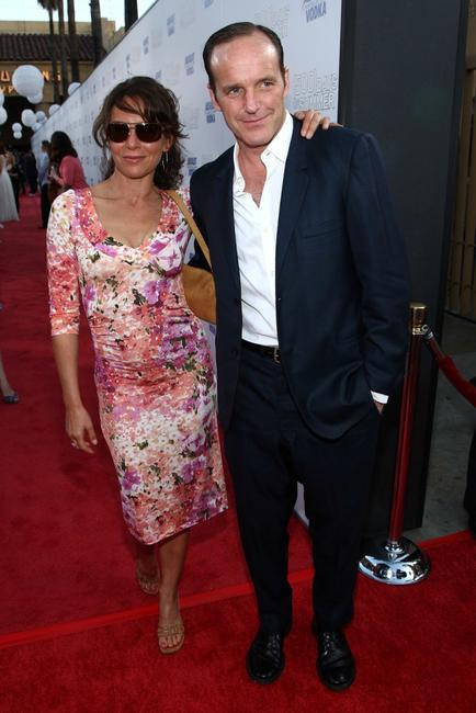 Jennifer Grey and Clark Gregg at the California premiere of