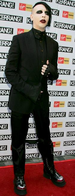 Marilyn Manson at the Kerrang Awards 2005, the Annual music magazine's prestigious Awards.