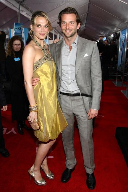 Molly Sims and Bradley Cooper at the premiere of
