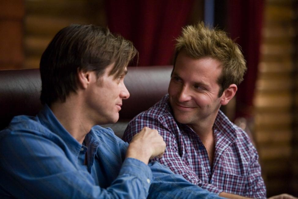 Jim Carrey as Carl and Bradley Cooper as Peter in