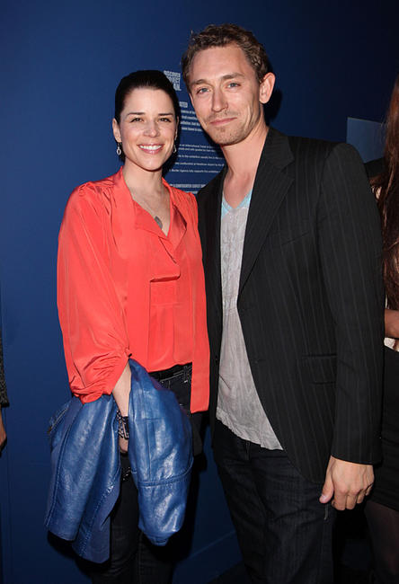Neve Campbell and JJ Feild at the Project Ocean Launch party.