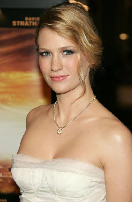 January Jones at the premiere of