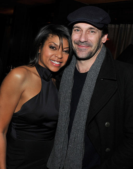 Taraji P. Henson and Jon Hamm at the after party of the screening of