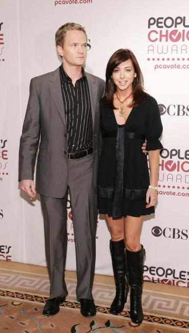 Alyson Hannigan and Neil Patrick Harris at the 33rd Annual People's Choice Awards nominations.