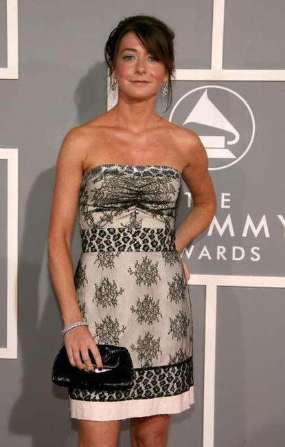 Alyson Hannigan at the 49th Annual Grammy Awards.
