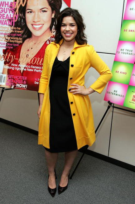 America Ferrera at a luncheon to celebrate the February CosmoGirl magazine cover in New York City.