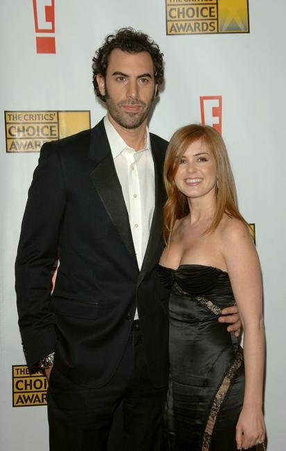 Sacha Baron Cohen and Isla Fisher at the 12th Annual Critics Choice Awards.