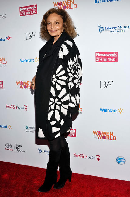 Diane Von Furstenberg at the Women in the World Summit 2013.