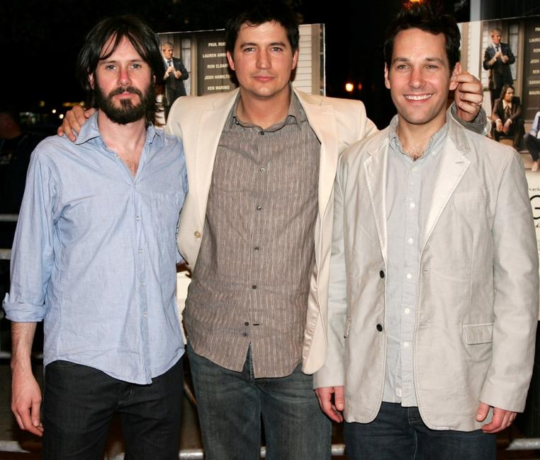 Josh Hamilton, Ken Marino and Paul Rudd at the premiere of