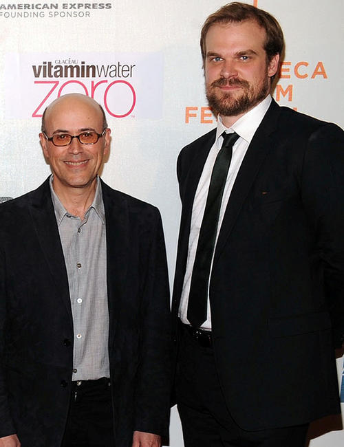 Director Richard Levine and David Harbour at the New York premiere of
