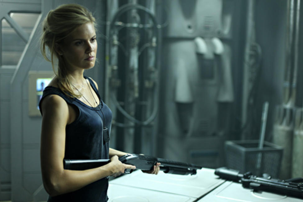 Maggie Grace as Emilie Warnock in ``Lockout.''
