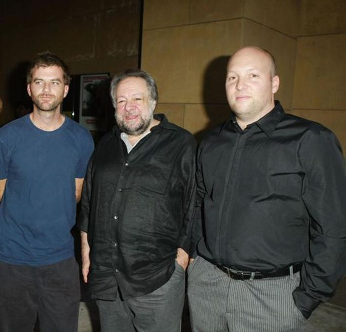 Director Paul Thomas Anderson, Ricky Jay and director Zak Penn at the premiere of
