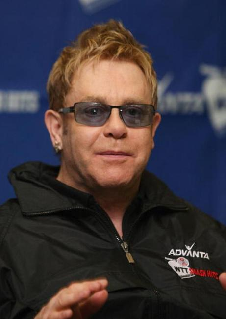 Elton John at the Advanta WTT Smash Hits To Benefit The Elton John AIDS Foundation.