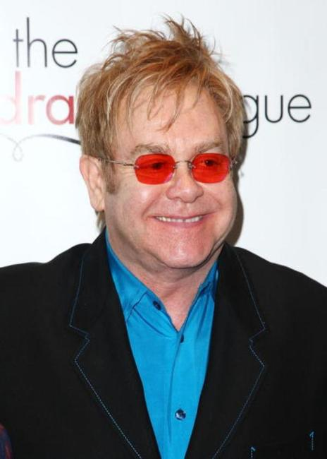 Elton John at the 75th Annual Drama League Awards.