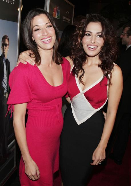 Brooke Langton and Sarah Shahi at the premiere screening of
