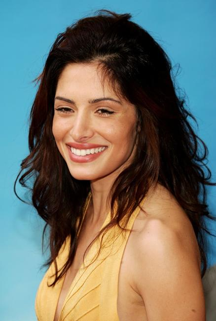 Sarah Shahi at the NBC Upfronts.