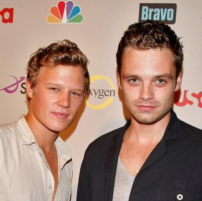 Christopher Egan and Sebastian Stan at the NBC Universal 2008 Press Tour All-Star party.