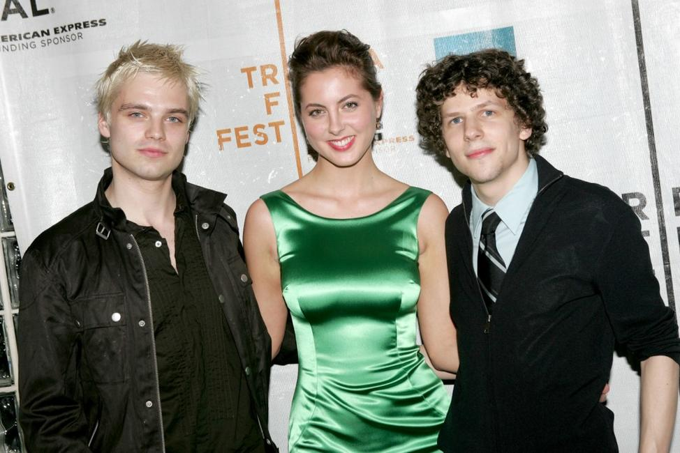 Sebastian Stan, Eva Amurri and Jesse Eisenberg at the premiere of