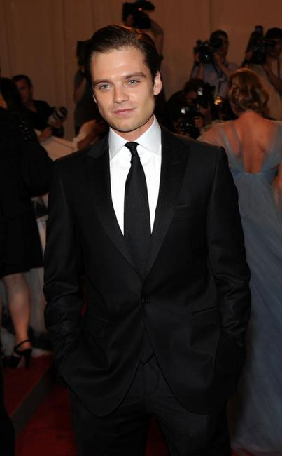 Sebastian Stan at the Costume Institute Gala Benefit.