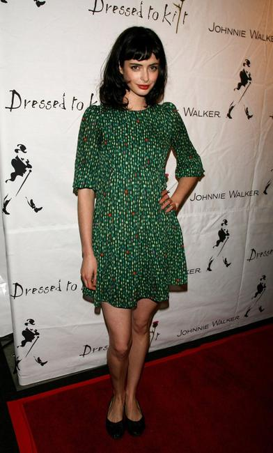 Krysten Ritter at the Johnnie Walker Dressed to Kilt 2006 fashion show during the Mercedes Benz Fashion Week.