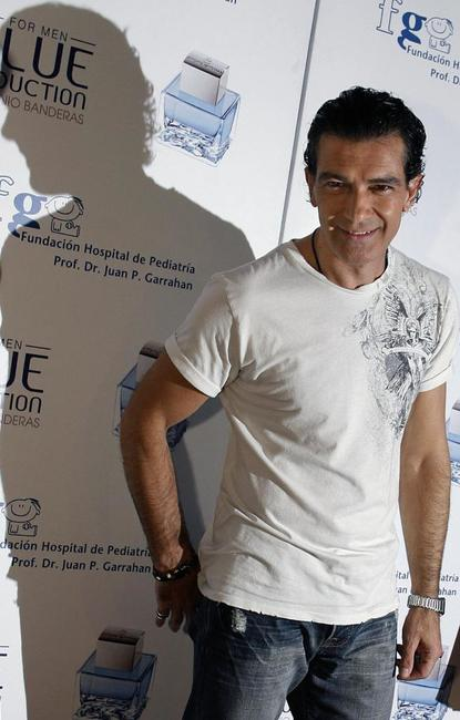Antonio Banderas at the press conference in Buenos Aires to present his new fragance for men.