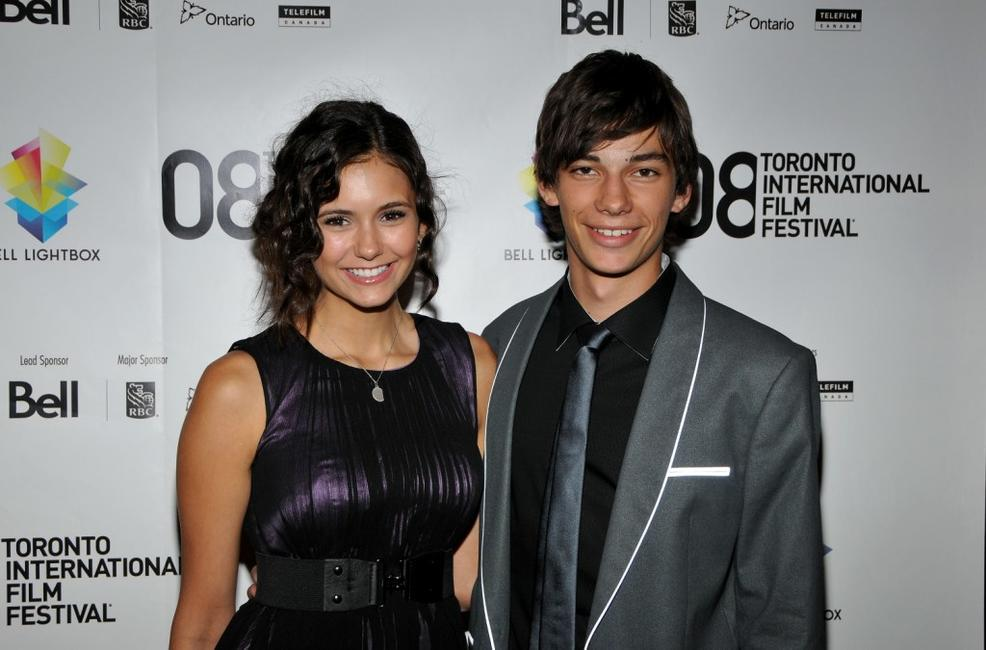 Emmanuelle Chriqui and Devon Bostick at the premiere of