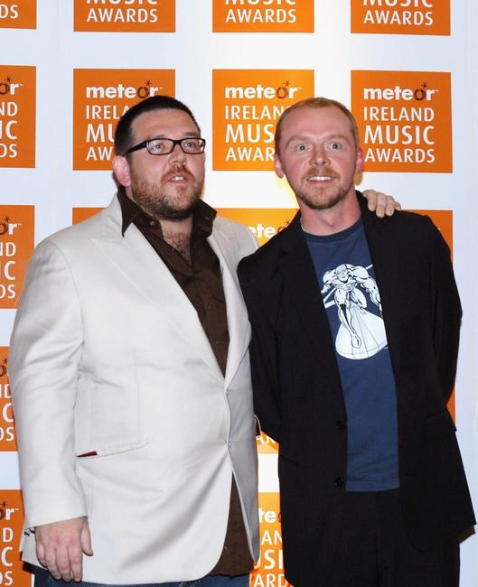 Nick Frost and Simon Pegg at the Meteor Ireland Music Awards 2007.