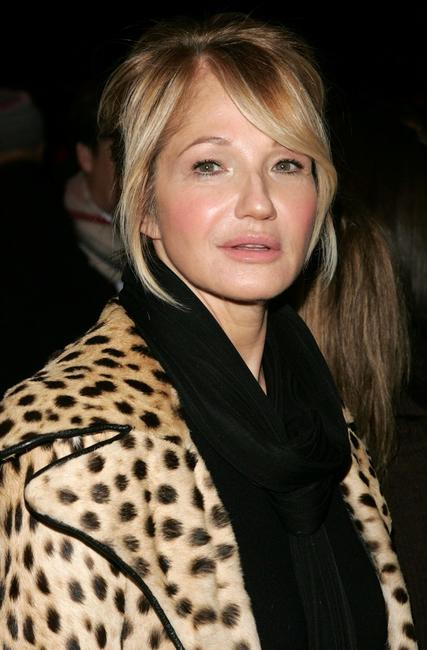 Ellen Barkin at the Diane Von Furstenberg Fall 2007 fashion show during Mercedes-Benz Fashion Week.