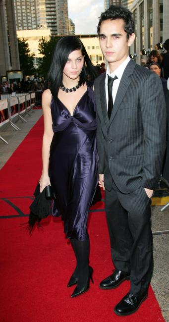 Max Minghella and Guest at the Metropolitan Opera 2006-2007 season opening night.
