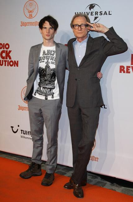 Tom Sturridge and Bill Nighy at the premiere of