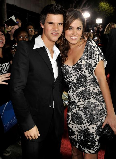 Taylor Lautner and Nikki Reed at the premiere of