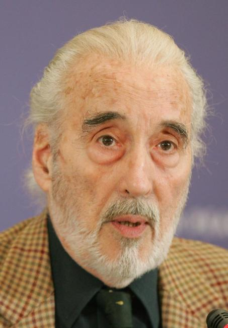 Christopher Lee at the International Berlin Film Festival Berlinale.
