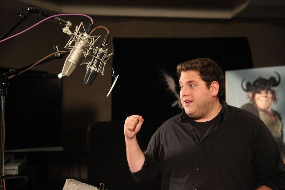 Jonah Hill on the set of