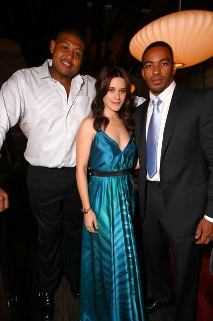 Omar Benson Miller, Valentina Cervi and Laz Alonso at the pre-party of the premiere of