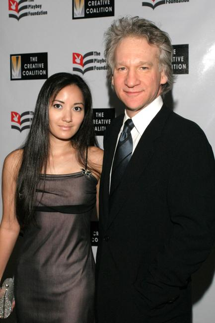 Suzy Oo and Bill Maher at the Playboy Foundation's 25th Anniversary Hugh M. Hefner First Amendment Awards.