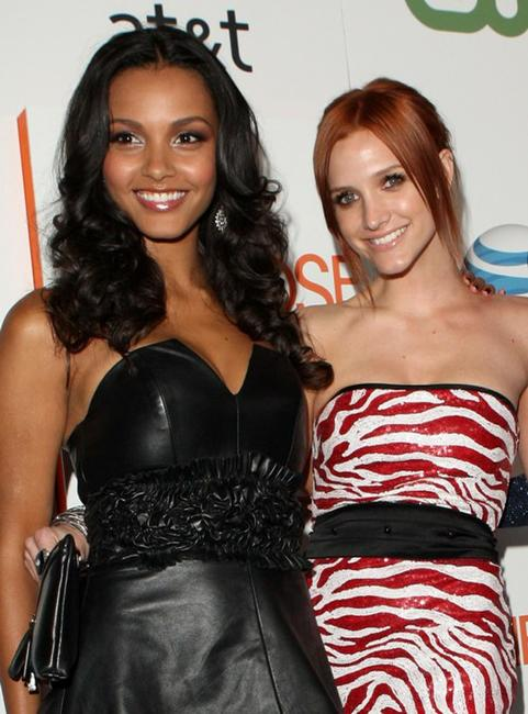 Jessica Lucas and Ashlee Simpson-Wentz at the premiere of