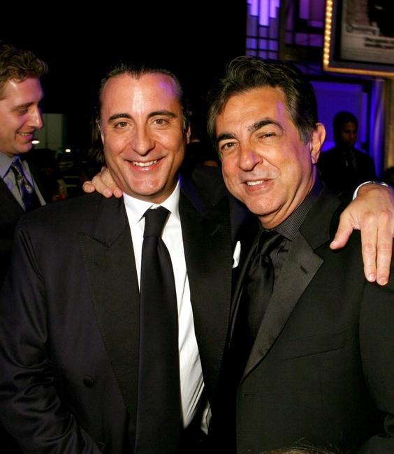 Joe Mantegna and Andy Garcia at the 35th AFI Life Achievement Award tribute to Al Pacino at the Kodak Theatre.