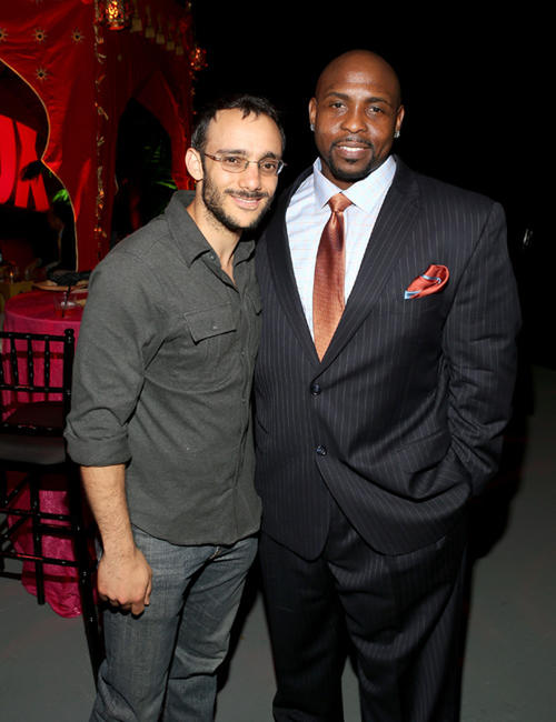 Omid Abtahi at the Twentieth Century Fox Television Distribution's 2013 LA screenings Lot Party.
