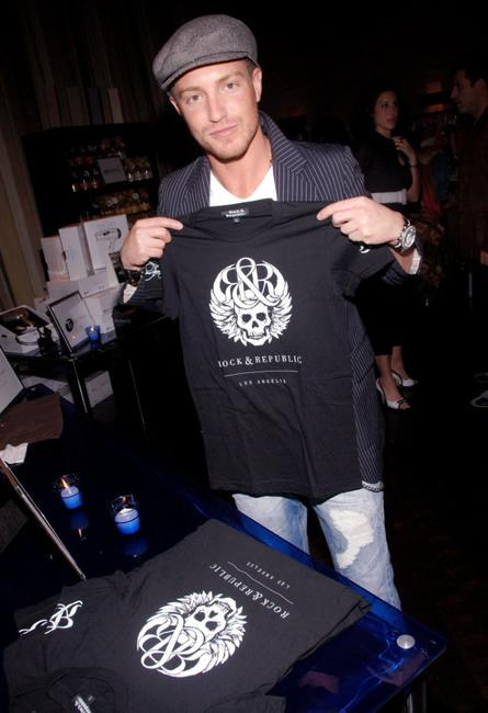 Lane Garrison at the People En Espanol Celebration of 50 Most Beautiful Gifting Suite.