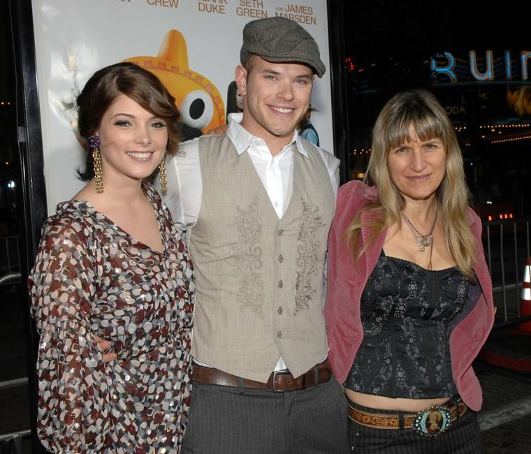 Ashley Greene, Kellan Lutz and Director Catherine Hardwicke at the premiere of