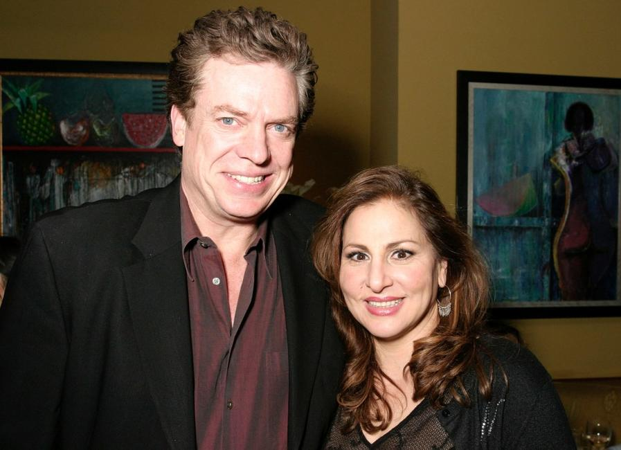 Christopher McDonald and Kathy Najimy at the afterparty for Kathy and Mo's greatest hits.