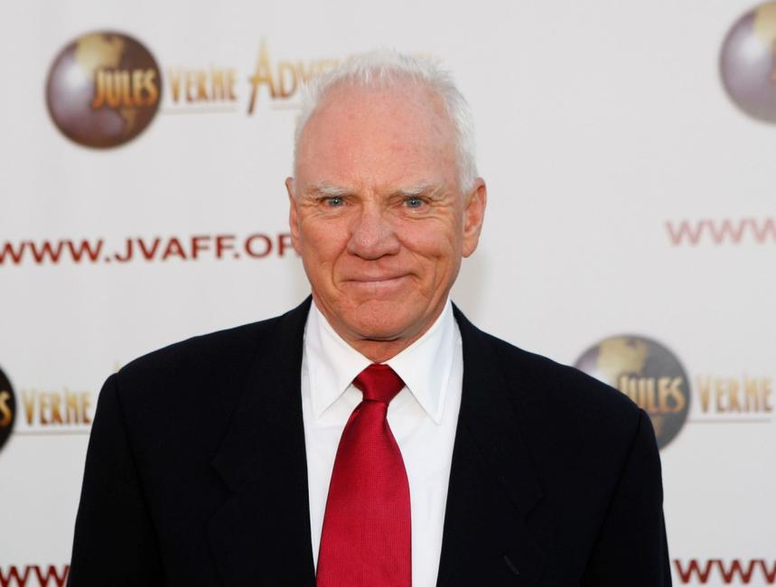 Malcolm McDowell at the Jules Verne Adventure Film Festival Special Awards Presentation.