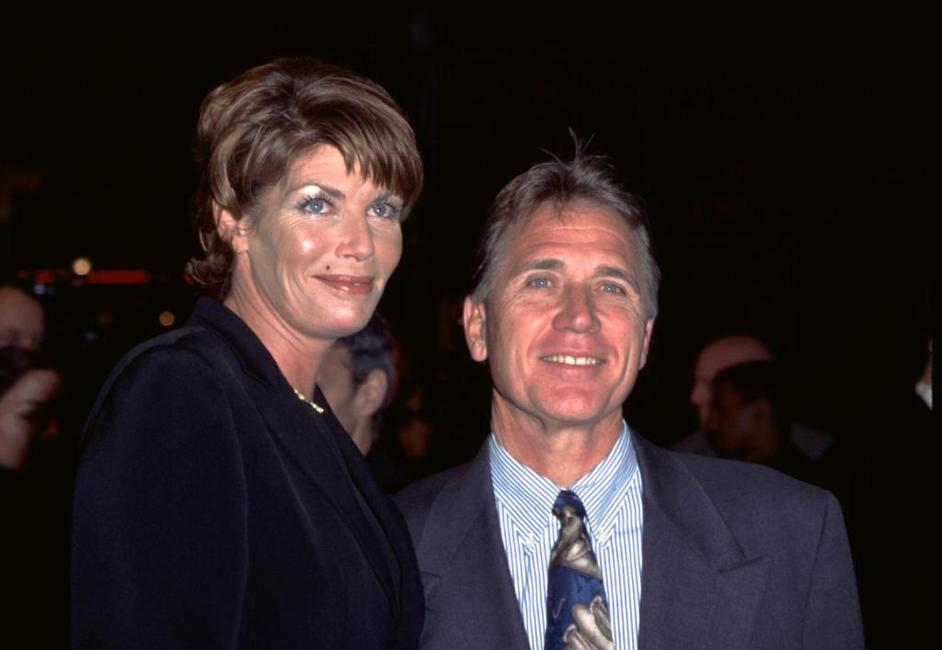 Kelly McGillis and husband Fred Tillman at the premiere of the