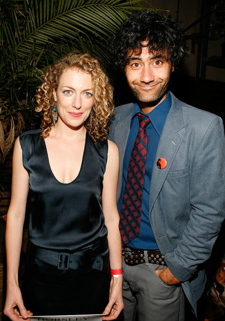 Loren Horsley and Taika Waititi at the after party of the New York premiere of