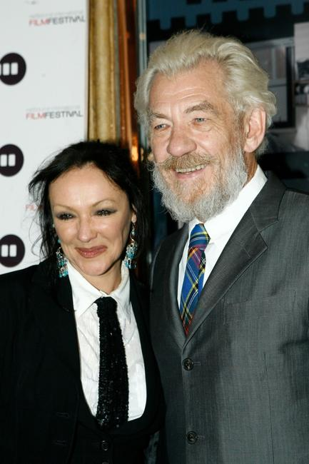 Sir Ian McKellen and Frances Barber at the opening night of the 2007 Melbourne International Film Festival with the screening of